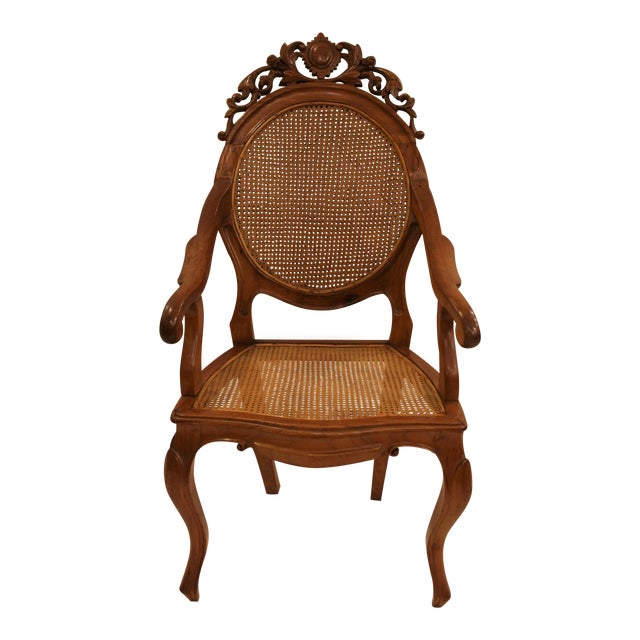 Vintage Carved Accent Chair - Image 1 of 11