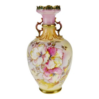 Victorian Royal Bonn Germany Hand Painted Porcelain Vase