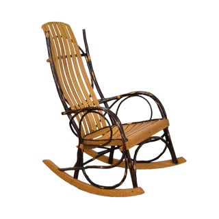 20th Century Rustic a.c. Latshaw Bentwood Hickory Twig Rocker Chair For Sale