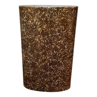 Enrique Garcel Lacquered Coconut Shell Pedestal For Sale