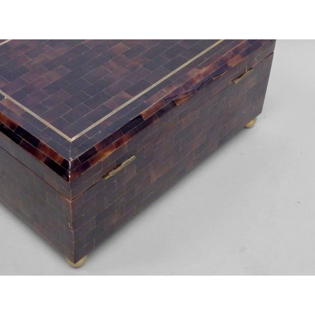 Karl Springer style tessellated horn box by Maitland Smith.
