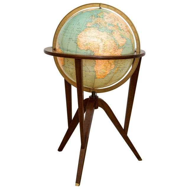 Brown Dunbar Illuminated Terrestrial Globe For Sale - Image 8 of 8
