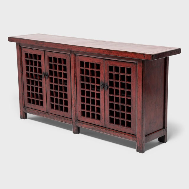 Asian Chinese Courtyard Lattice Coffer For Sale - Image 3 of 9