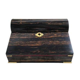 19th Century Traditional Tiffany & Co Calamander Wood Lap Desk For Sale