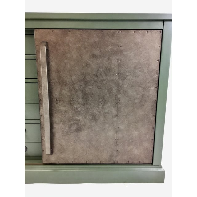 Green Sliding Door Console For Sale In Atlanta - Image 6 of 7