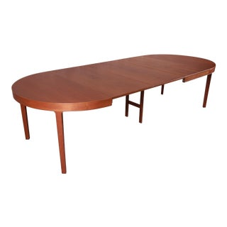 Ole Wanscher for Illums Bolighus Danish Modern Teak Extension Dining Table, Newly Restored For Sale