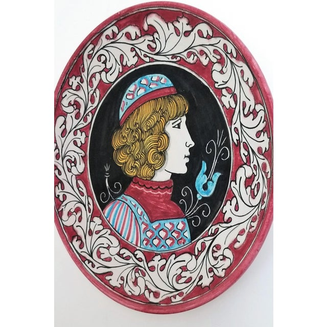 Ceramic 1950s Vintage Italian Majolica Ceramic Wall Plaques by Giacomini Orvieto For Sale - Image 7 of 13