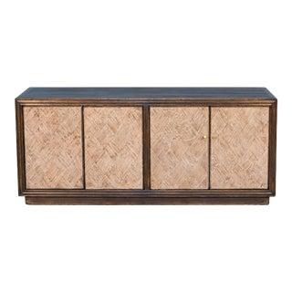 Sarreid Parquet Panels Wall Sideboard For Sale