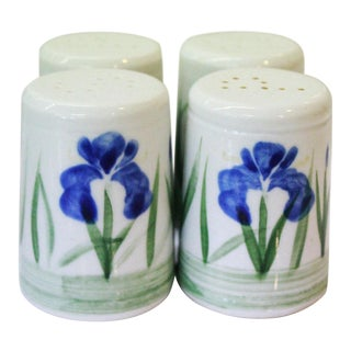 Iris Salt and Pepper Shakers - Set of 4 For Sale