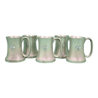 Abercrombie & Fitch English Pewter Private Yacht Mugs - Set of 5 For Sale