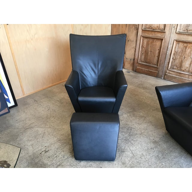 Armilla Arm Chairs and Ottoman by Arflex For Sale In Los Angeles - Image 6 of 10