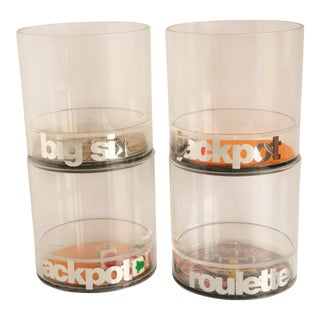 Casino Acrylic Lowball Glasses - Set of 4 For Sale