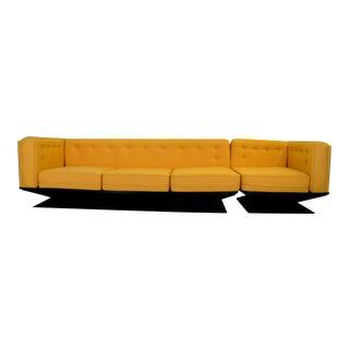 Mid Century Modern Italian w/ New Knoll Wool & Fiberglass MIM Roma / Ico Parisi Sectional Sofa by Luigi Pellegrin
