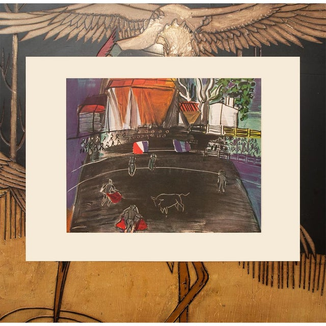 """The School of Paris 1954 Raoul Dufy """"Bullfight"""", First Edition Lithograph For Sale - Image 3 of 8"""