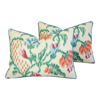Custom Brunschwig & Fils Marly Pillows - A Pair For Sale