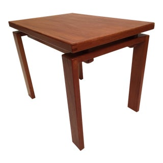1980s Danish Modern Trioh Mobler Dovetail Teak Occasional Table For Sale
