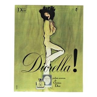 Dior perfume print by Gruau For Sale