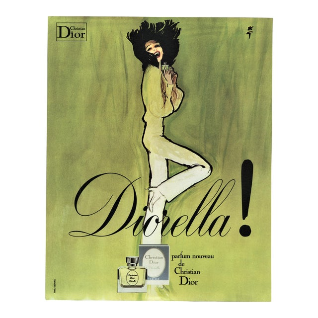 Matted Dior Perfume Print by Gruau For Sale