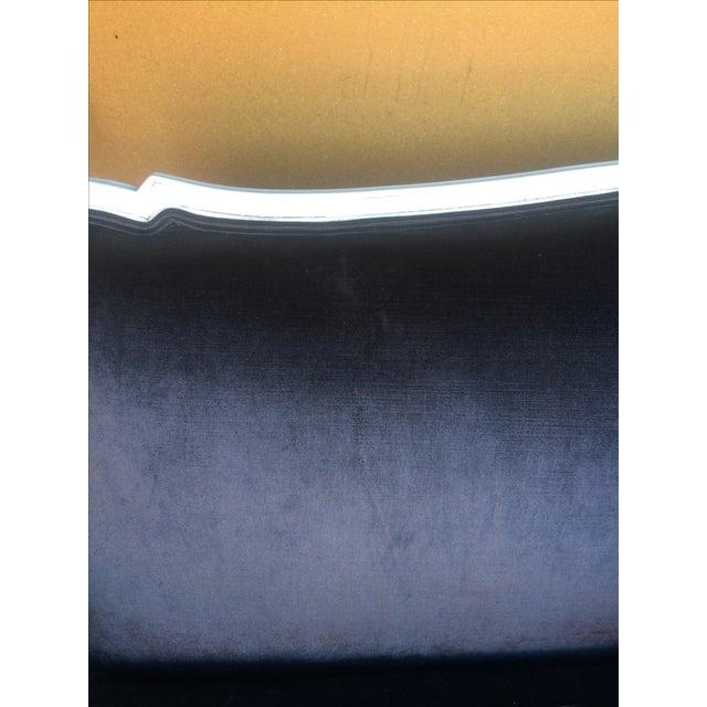 Antique Louis Canapé Black Velvet Sofa - Image 10 of 10