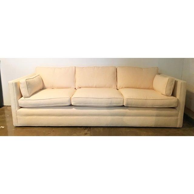 Knoll Tuxedo Linen Sofa - Image 2 of 10