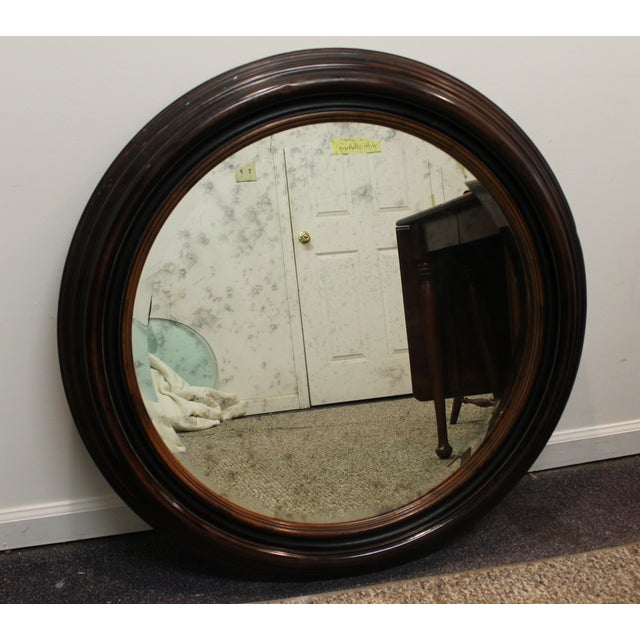 Antique Round Wall Mirror - Image 2 of 7
