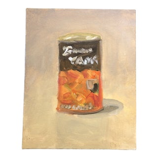 Original Can Yams Impressionist Still Life Painting For Sale