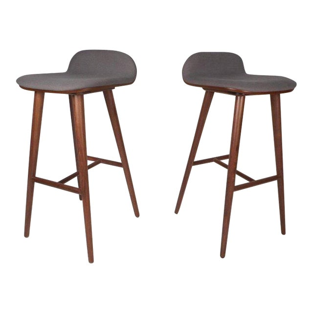 Contemporary Modern Bar Stools - A Pair For Sale