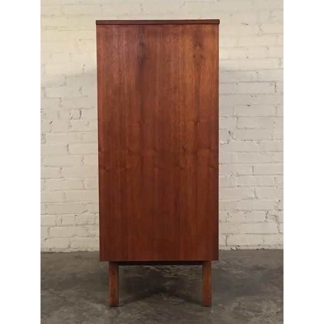 Walnut Mid-Century Modern 4-Drawer Dresser - Image 6 of 8