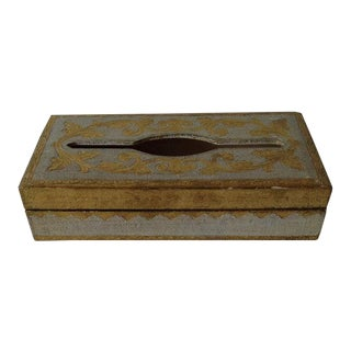Vintage Italian Gilt Tissue Box