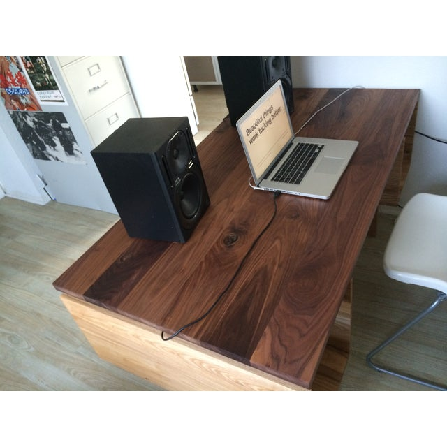 Hand Built Desk With Floating Walnut Top - Image 7 of 9