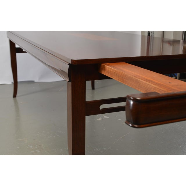 Art Deco Bespoke Art Deco Style Walnut Extending Dining Table For Sale - Image 3 of 12