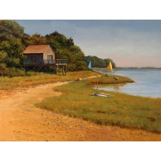 Ronald Tinney, Beach House Painting, 2014 For Sale