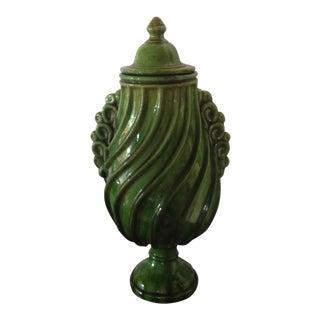 Italian Glazed Terra-Cotta Urn For Sale