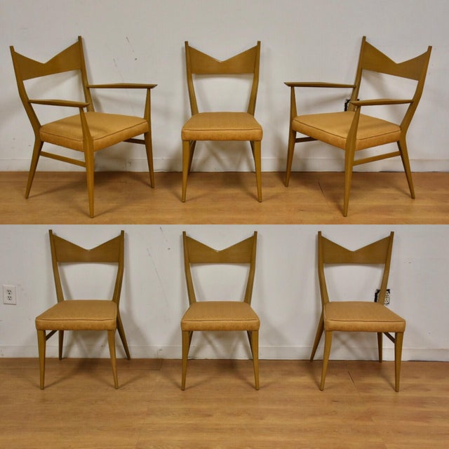 Gold Dining Table and Chairs by Paul McCobb - Set of 7 For Sale - Image 8 of 13