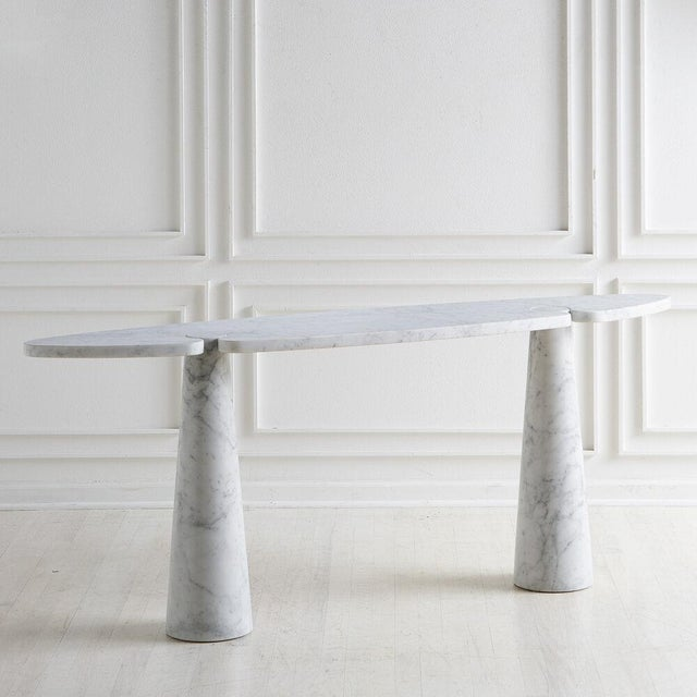 An Eros Console designed by Angelo Mangiarotti for Skipper in the 1960's. A beautifully shaped marble table top rests on...