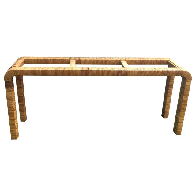 Rattan Console Table - Image 1 of 9