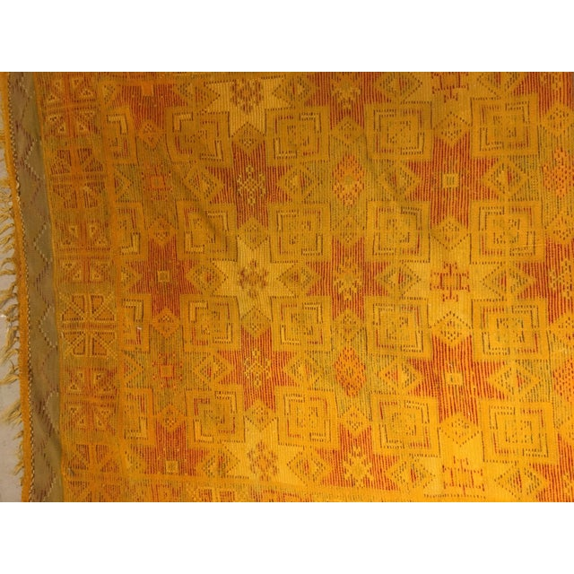 Gold Multi Moroccan rug For Sale - Image 10 of 11