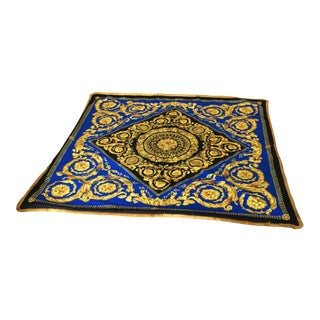 Italian Custom Made Baroque Versace Velvet Throw For Sale