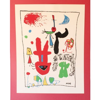 """""""Acrobats in the Night Garden"""" Print by Joan Miro For Sale"""