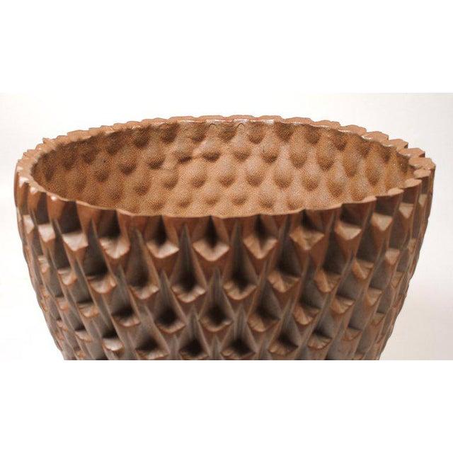 "Ceramic David Cressey Artisan Series Unglazed ""Phoenix"" Planter Architectural Pottery For Sale - Image 7 of 9"