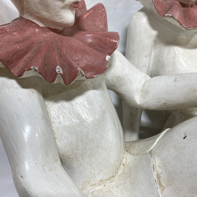 White Marbro Style Jester Sculpture For Sale - Image 8 of 12
