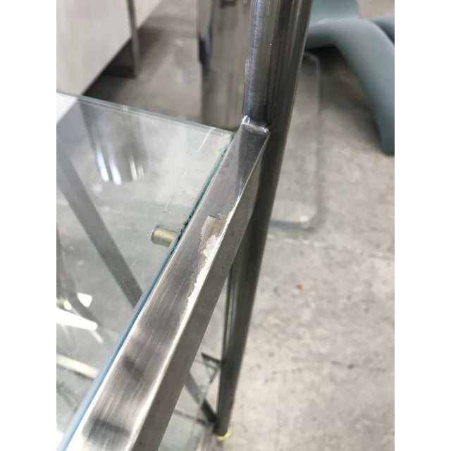 Dia Etagere with Glass Shelves For Sale In Miami - Image 6 of 13