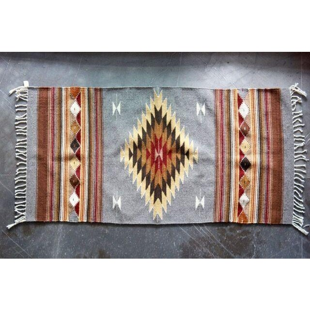 Mexican Pedal-Loom Gray Rug- 2′7″ × 4′10″ - Image 2 of 6