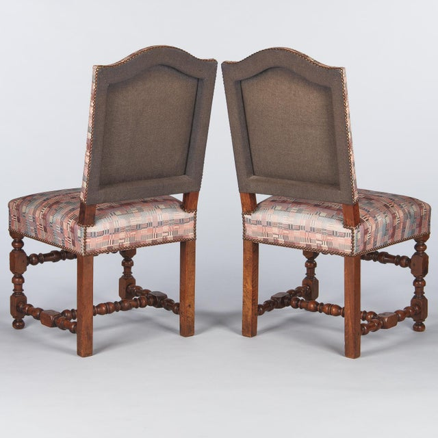 1920s Louis XIII Style Upholstered Walnut Chairs - Set of 6 For Sale - Image 11 of 13