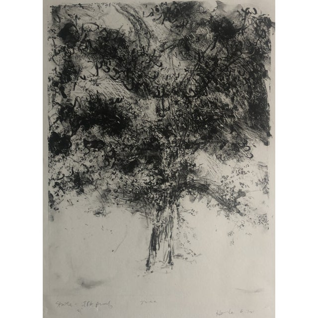 1978 Abstract Tree Lithograph by Dellas Henke For Sale In Greenville, SC - Image 6 of 6