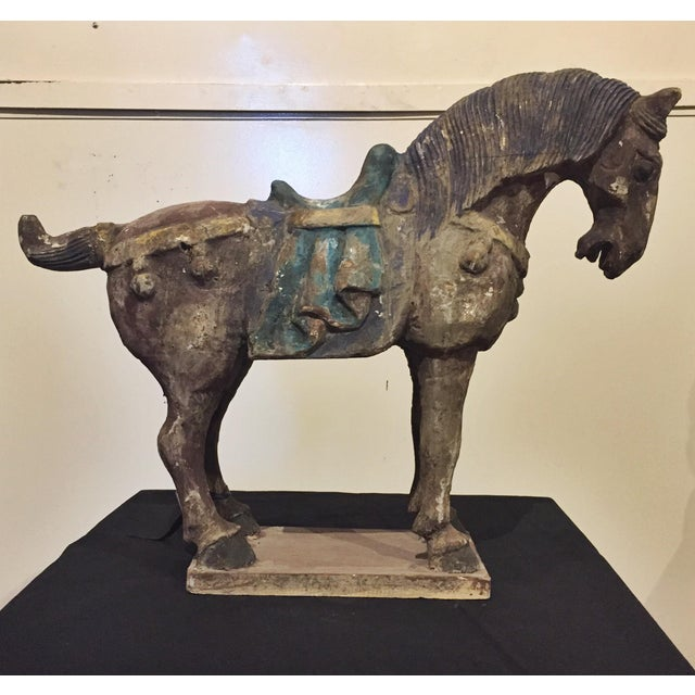 Chinese Antique Horse Sculpture - Image 2 of 7