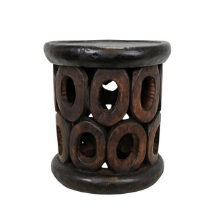 Bamileke Oval Pattern Stool For Sale