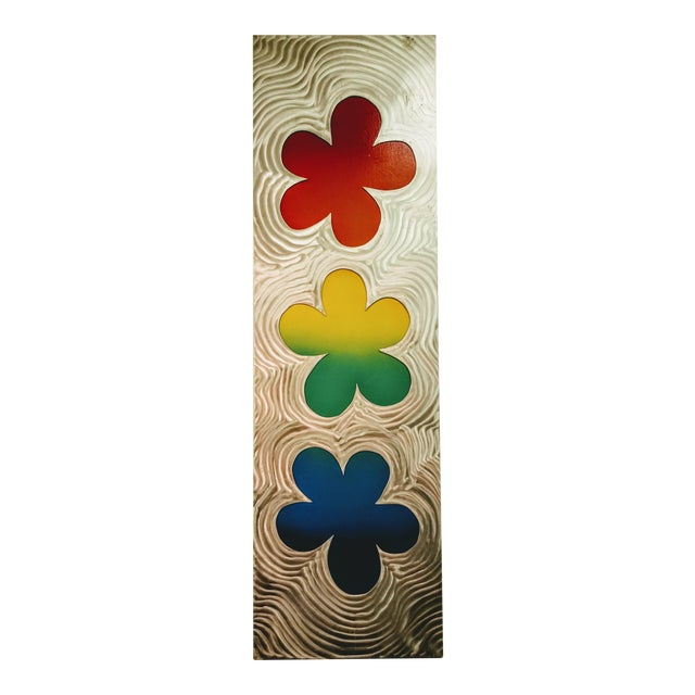 Stainless Steel Brushed Floral Wall Hanging - Image 1 of 6