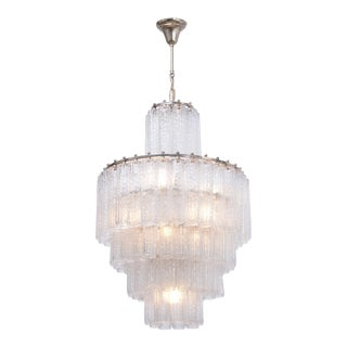 Vintage Italian Glass Chandelier by Venini For Sale
