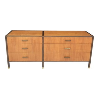 Harvey Probber Two Tone Mahogany Six Drawer Dresser For Sale